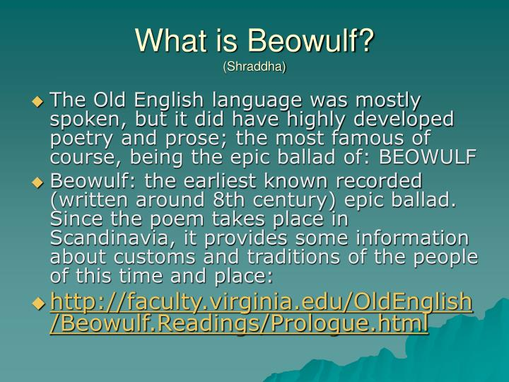 What is Beowulf?