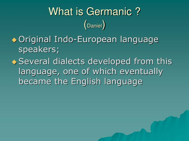 What is germanic daniel