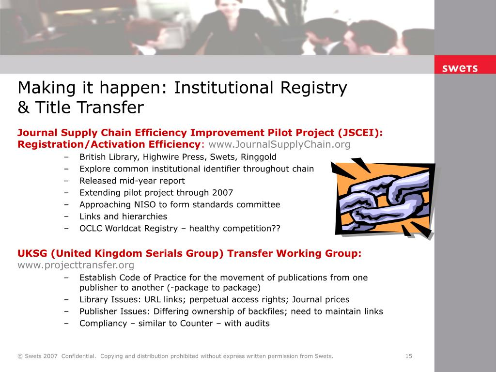 Journal Supply Chain Efficiency Improvement Pilot Project (JSCEI): Registration/Activation Efficiency
