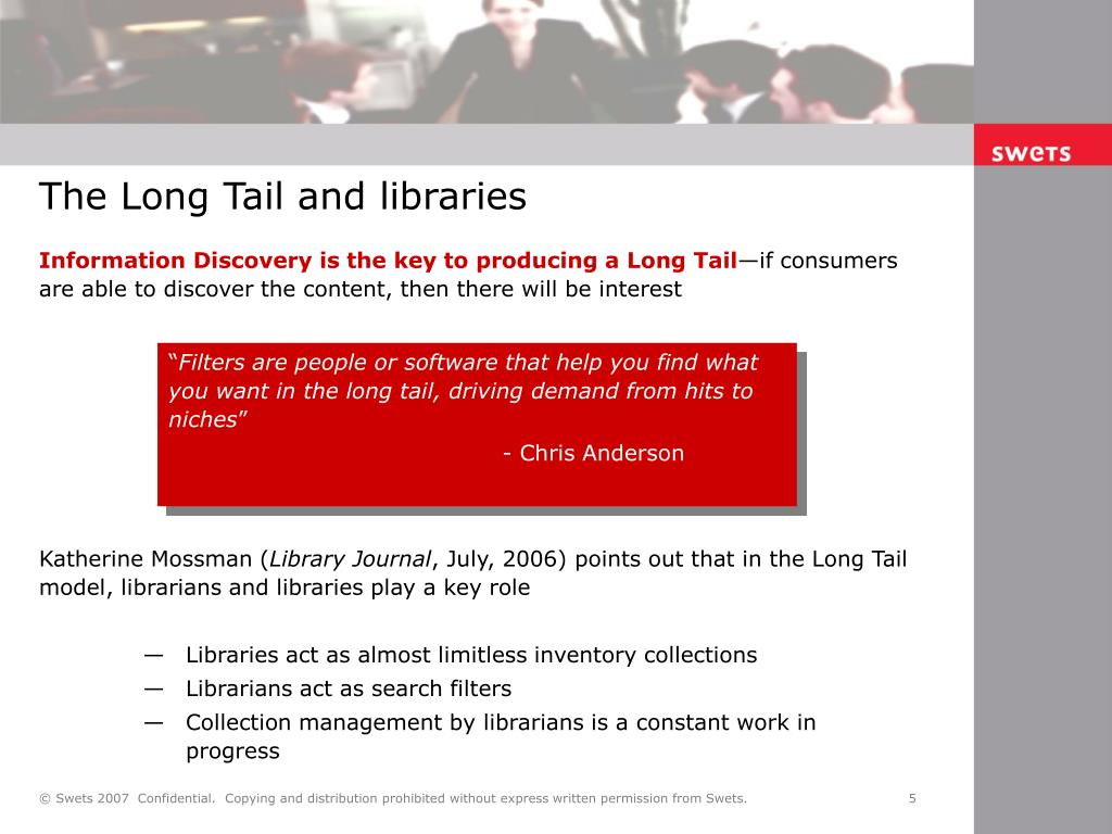 The Long Tail and libraries