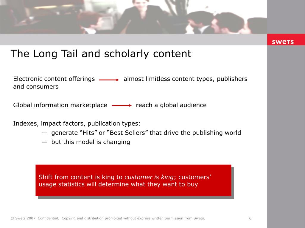 The Long Tail and scholarly content