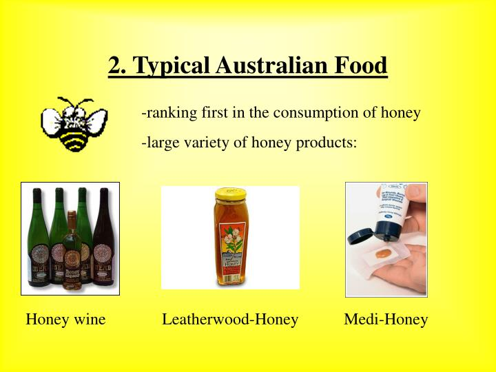 2 typical australian food