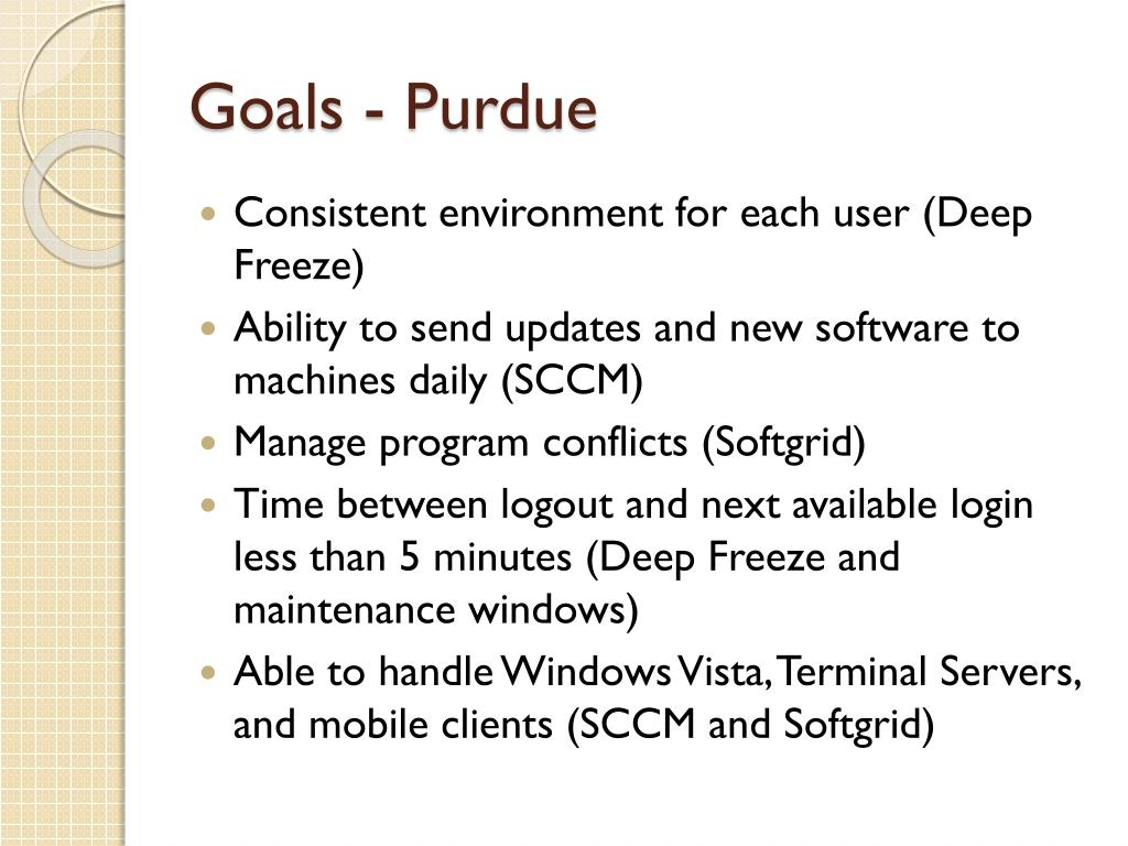 Goals - Purdue