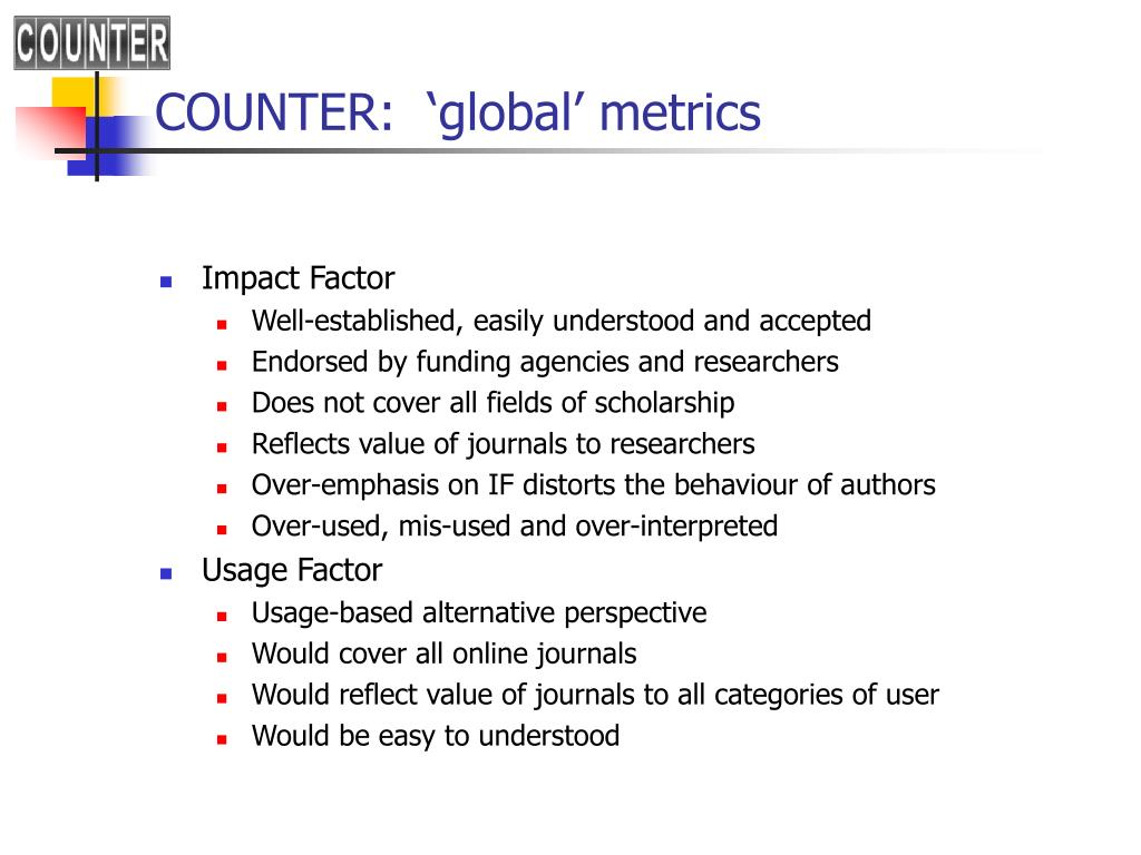 COUNTER:  'global' metrics