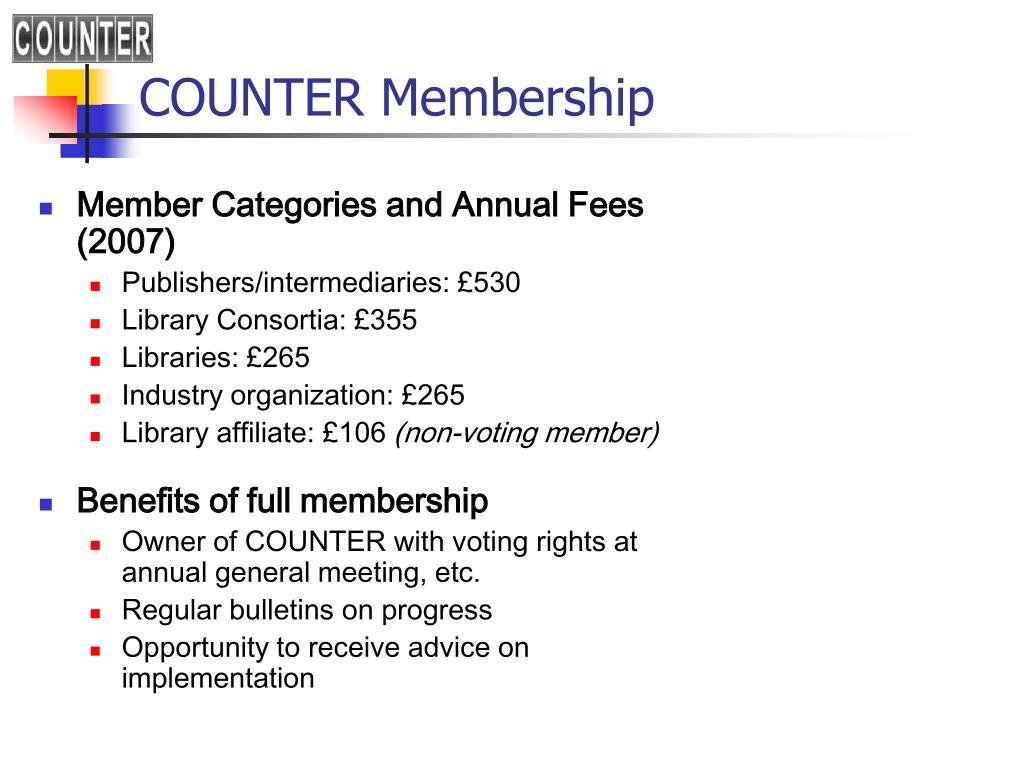 COUNTER Membership