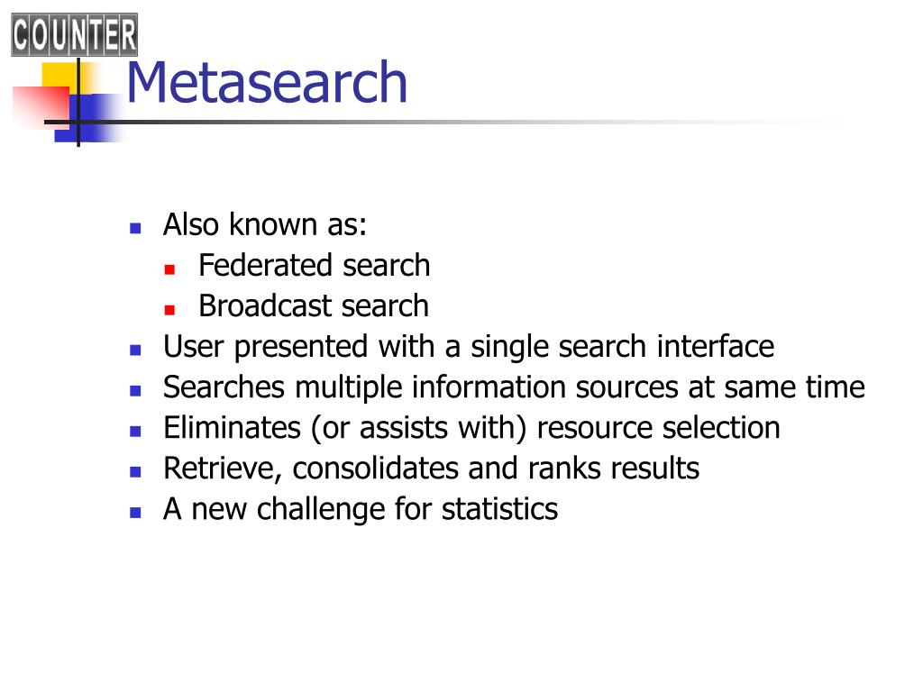Metasearch