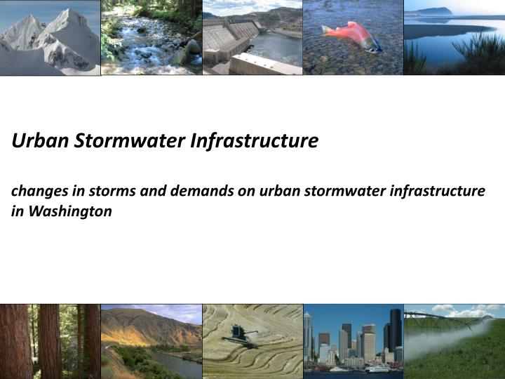 Urban Stormwater Infrastructure