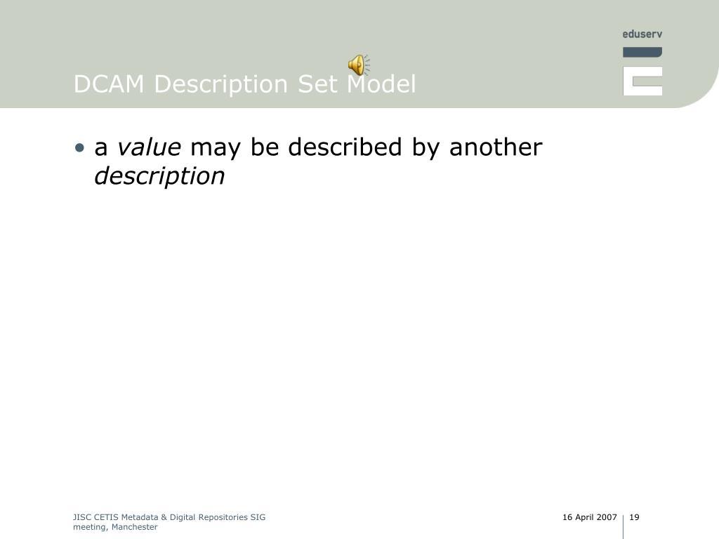 DCAM Description Set Model