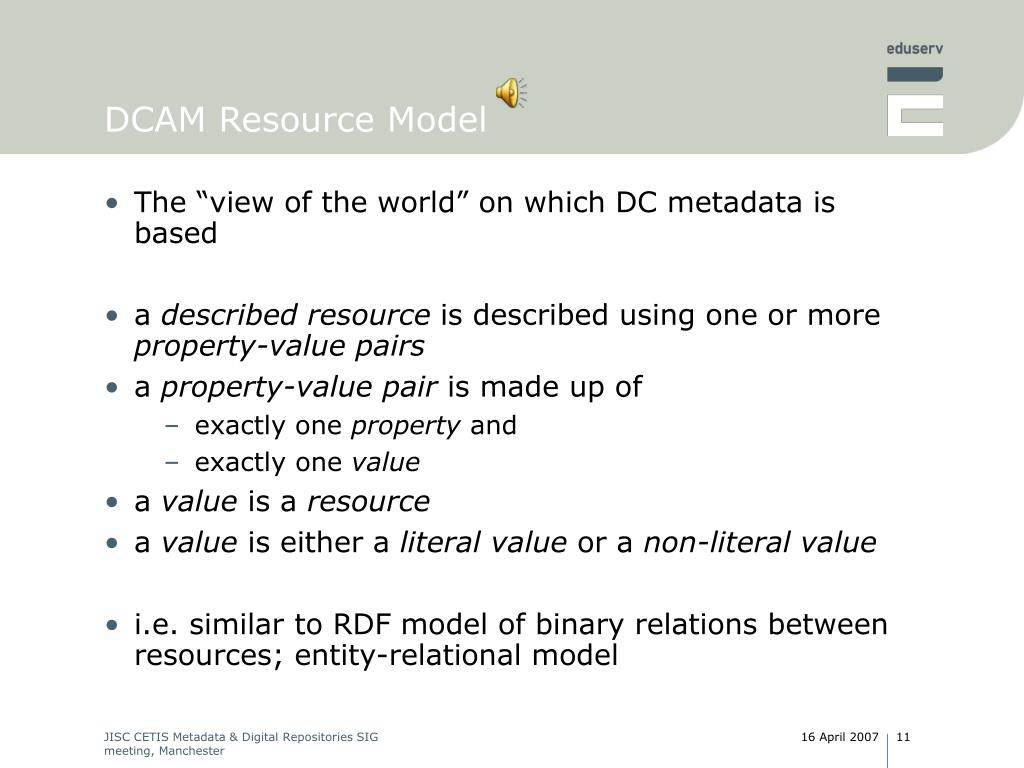 DCAM Resource Model