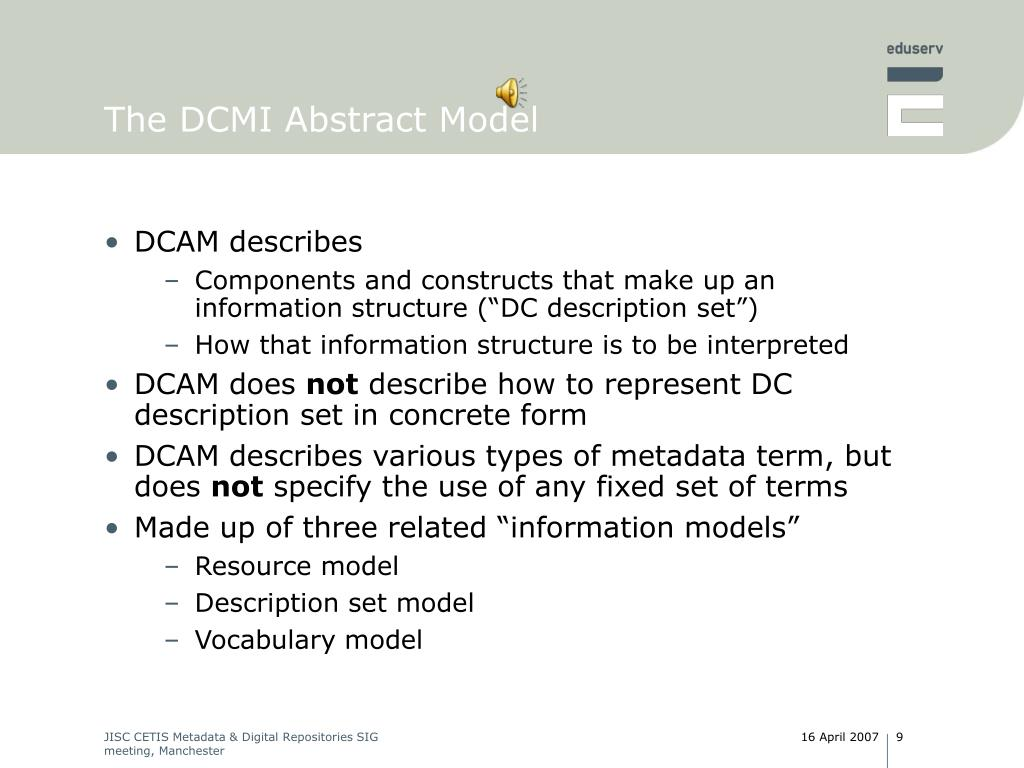 The DCMI Abstract Model