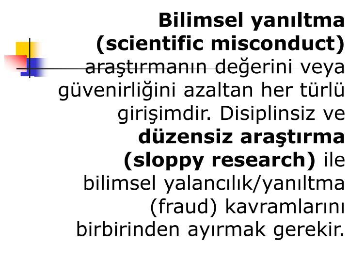 Bilimsel yan