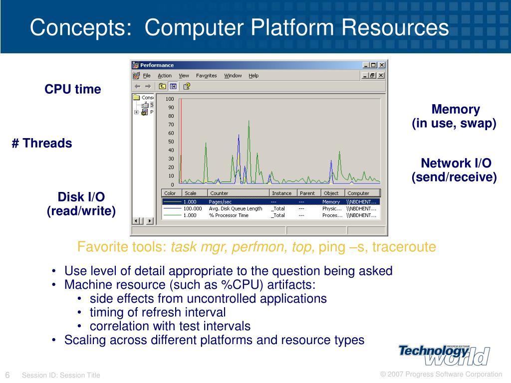 Concepts:  Computer Platform Resources