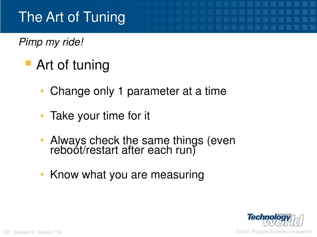 The Art of Tuning