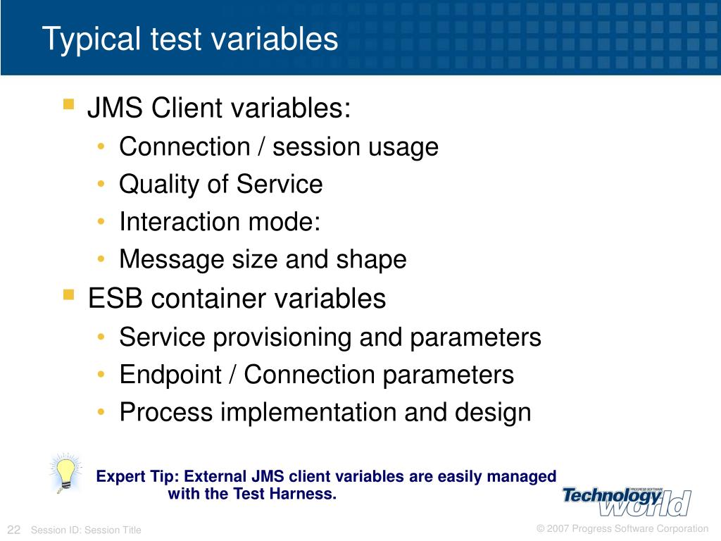 Expert Tip: External JMS client variables are easily managed