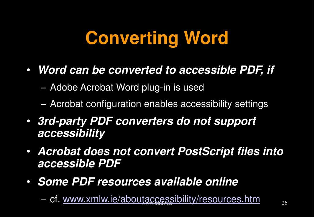 Converting Word