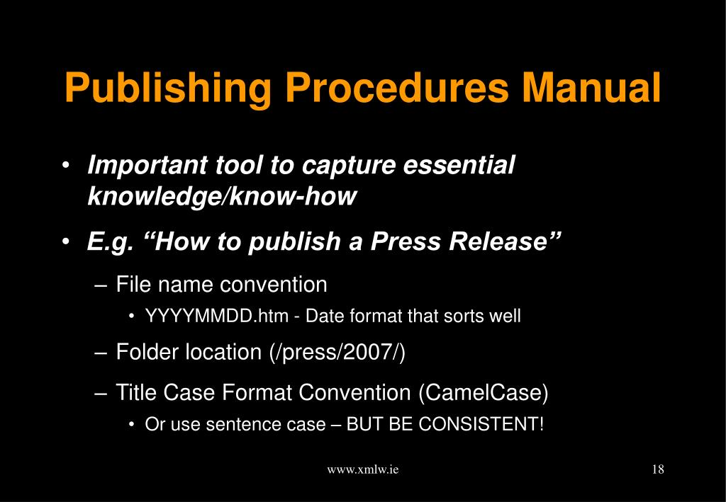 Publishing Procedures Manual