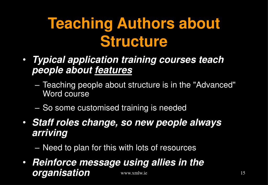 Teaching Authors about Structure