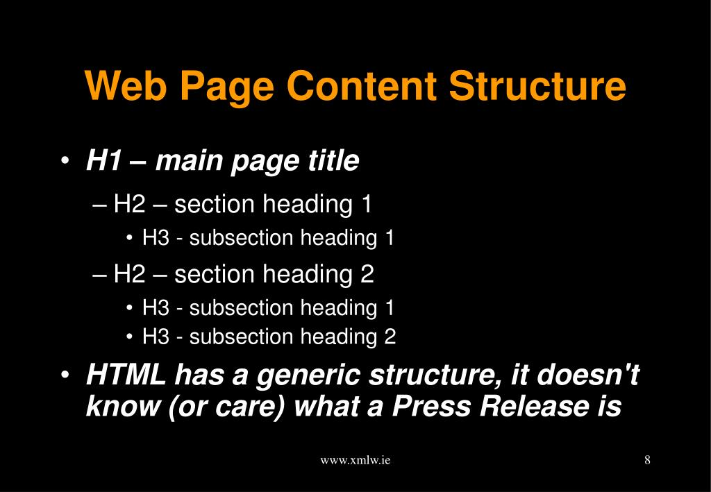 Web Page Content Structure