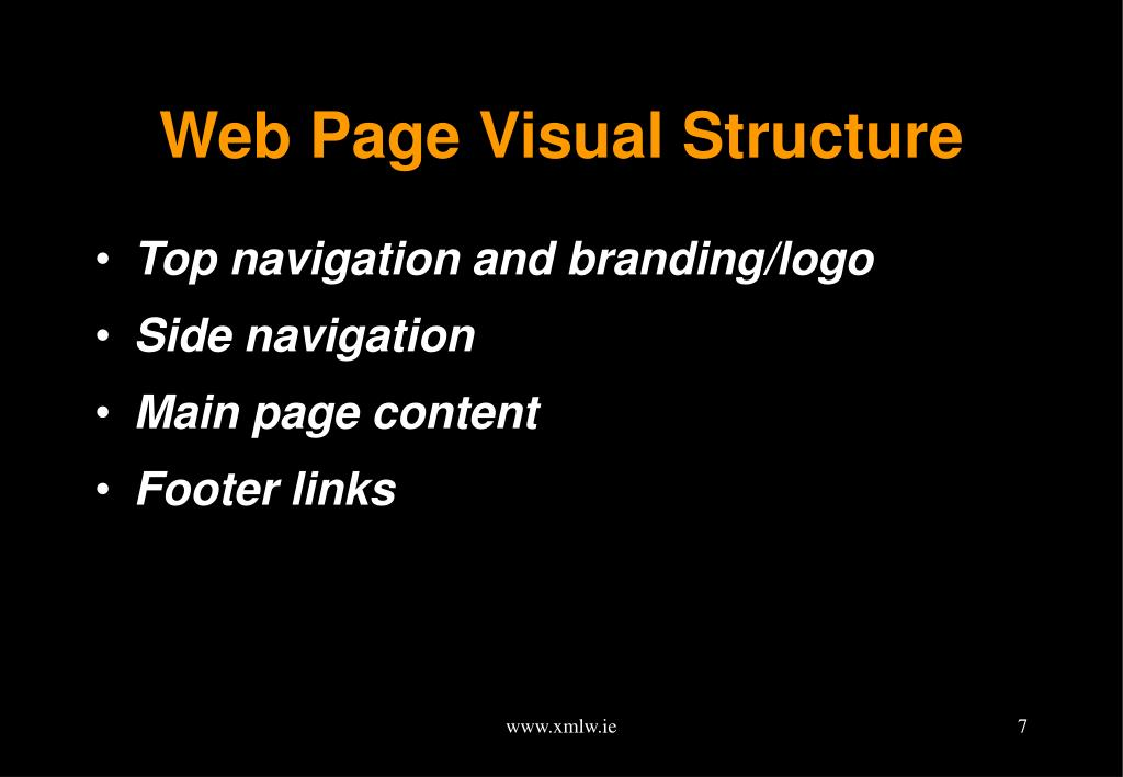 Web Page Visual Structure