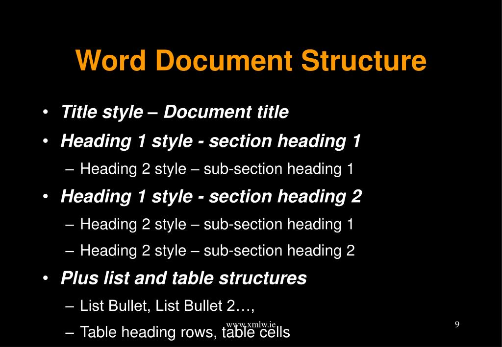 Word Document Structure