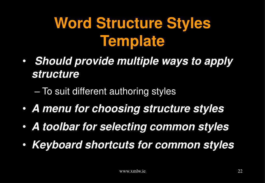 Word Structure Styles Template