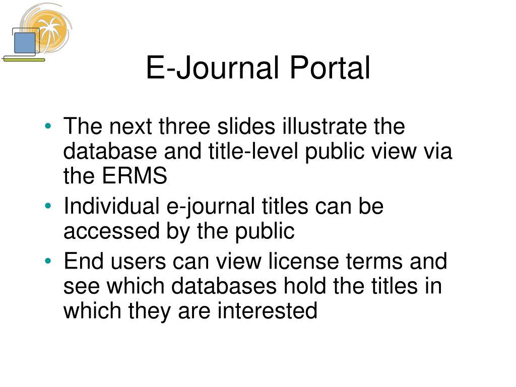 E-Journal Portal