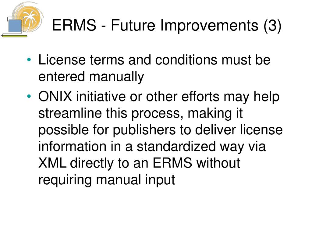 ERMS - Future Improvements (3)