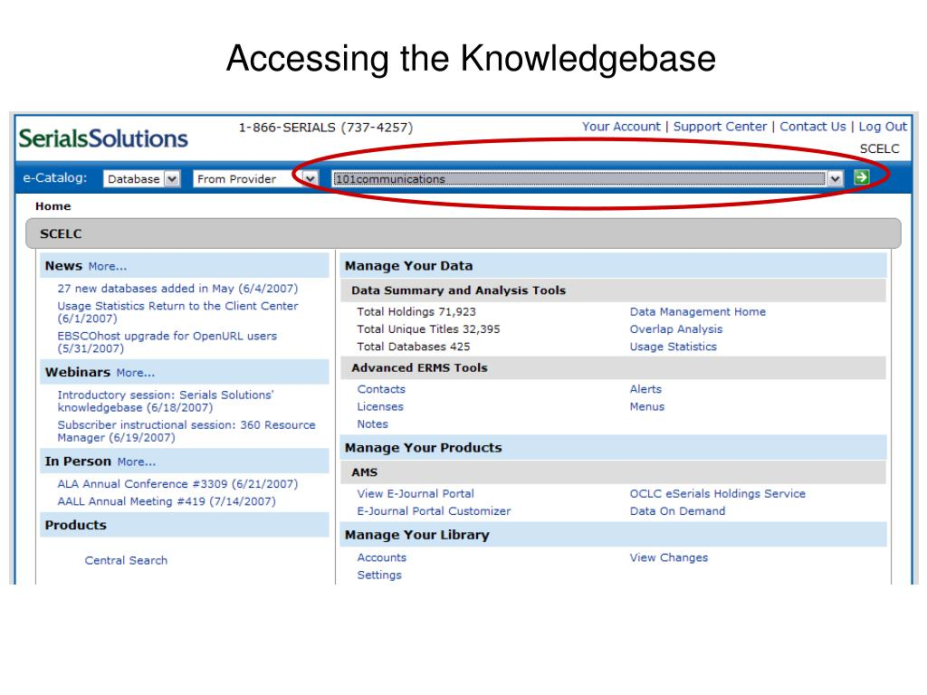 Accessing the Knowledgebase