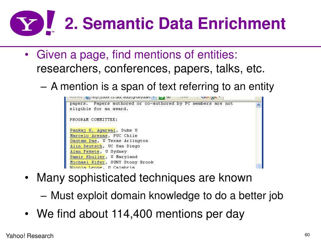 2. Semantic Data Enrichment