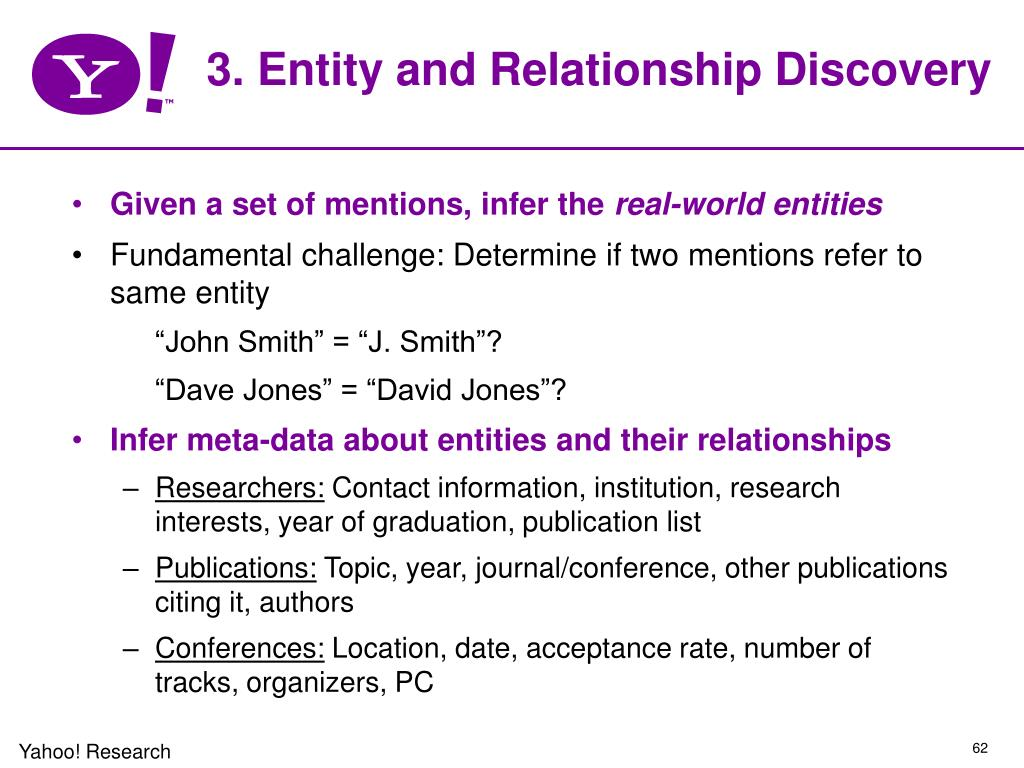 3. Entity and Relationship Discovery