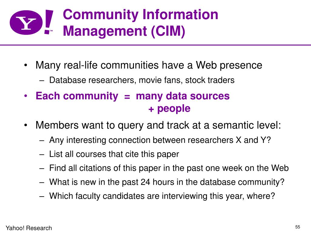 Community Information Management (CIM)