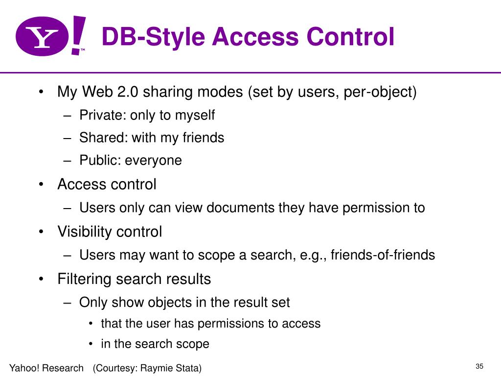 DB-Style Access Control