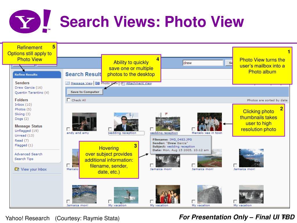 Search Views: Photo View