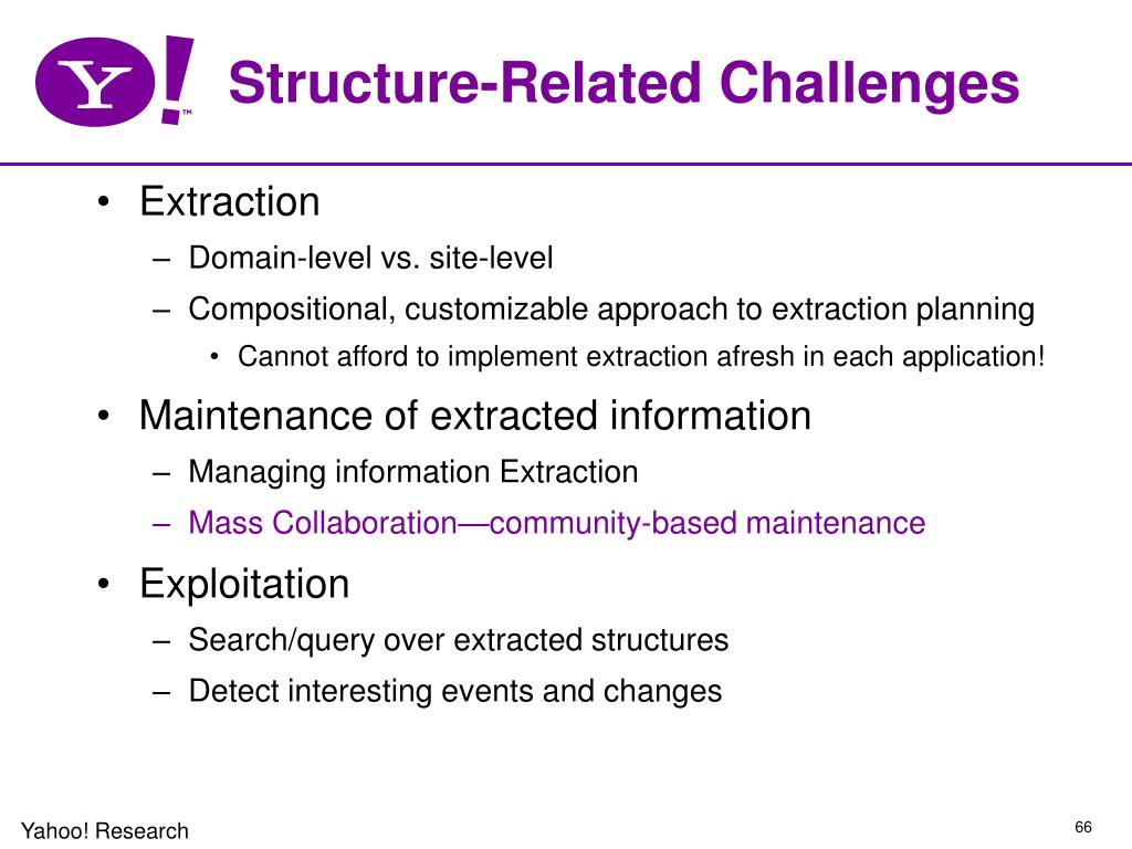 Structure-Related Challenges
