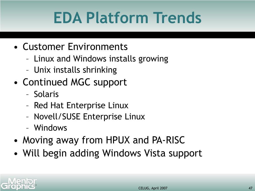 EDA Platform Trends