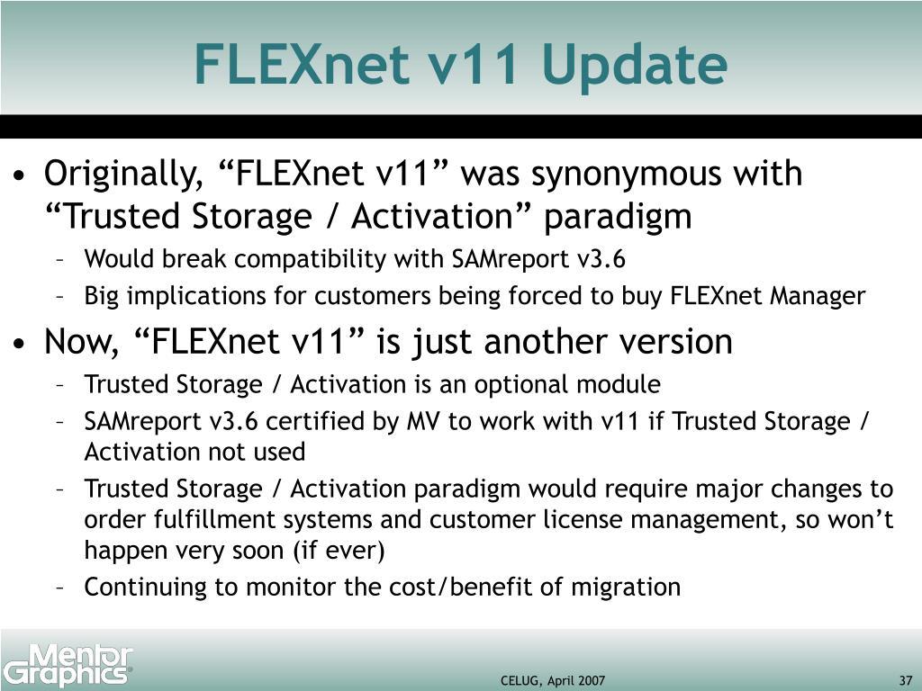 FLEXnet v11 Update