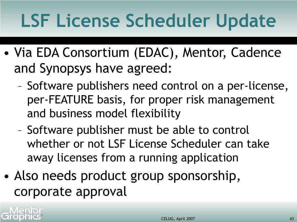 LSF License Scheduler Update