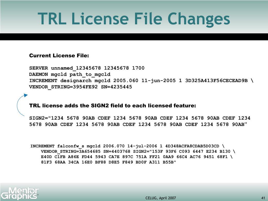 Current License File: