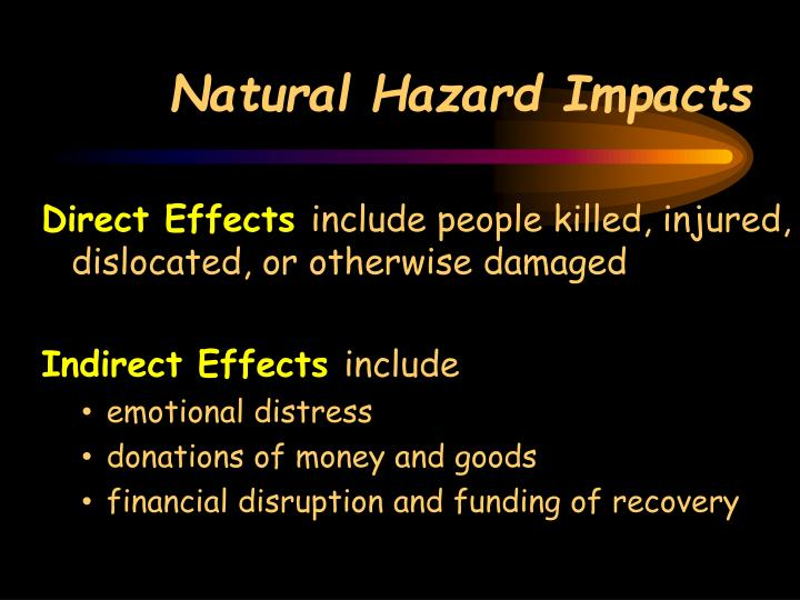 Natural Hazard Impacts