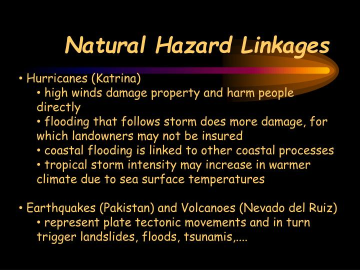 Natural Hazard Linkages