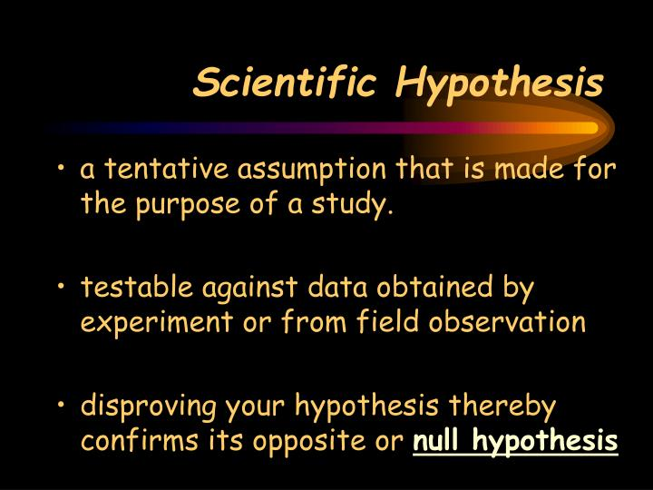 Scientific Hypothesis