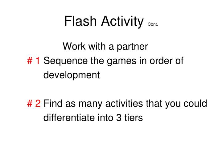 Flash Activity