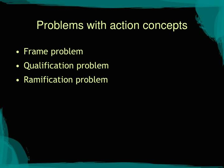 Problems with action concepts