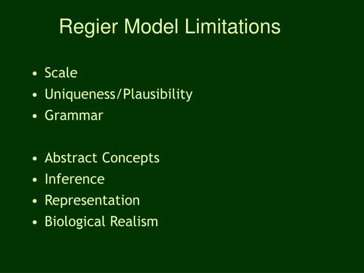 Regier Model Limitations