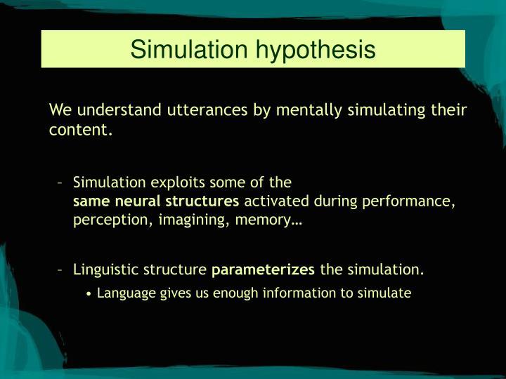 Simulation hypothesis