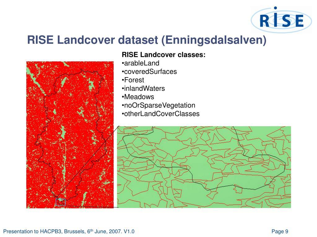 RISE Landcover dataset (Enningsdalsalven)