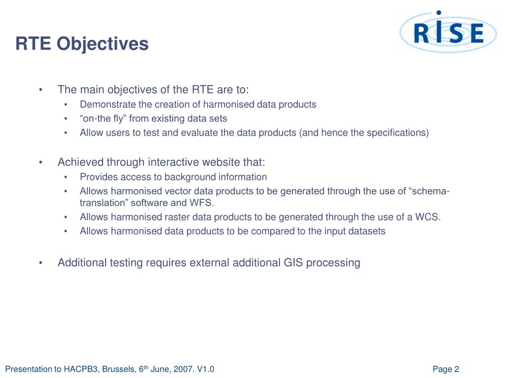 RTE Objectives
