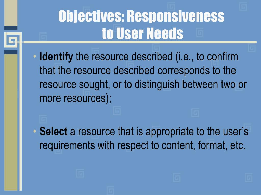 Objectives: Responsiveness
