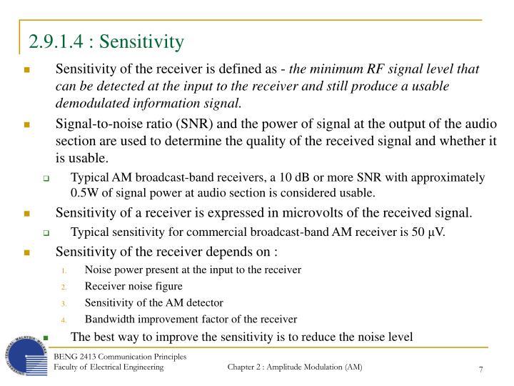 2.9.1.4 : Sensitivity