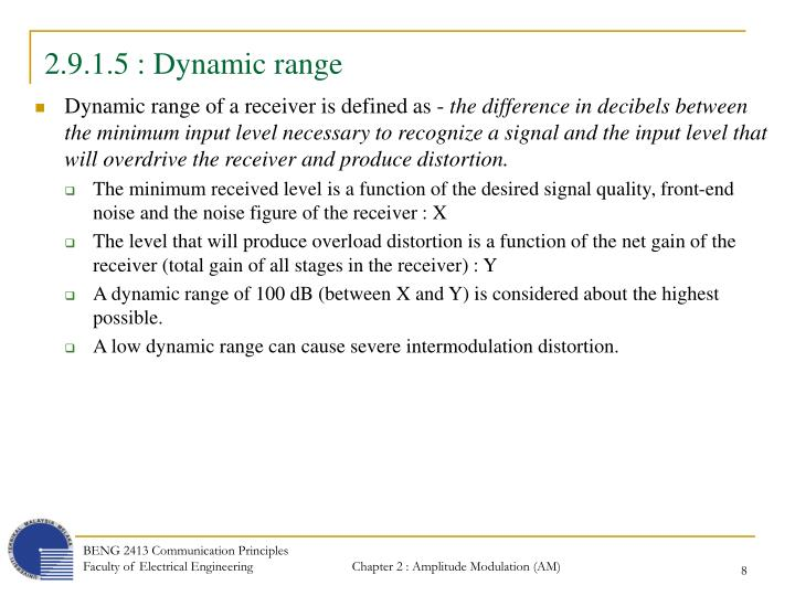 2.9.1.5 : Dynamic range